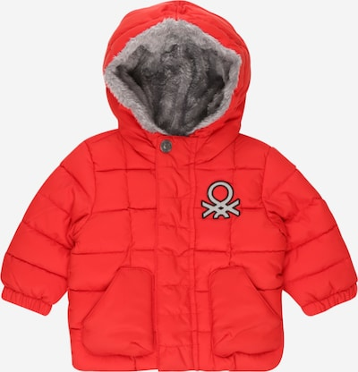 UNITED COLORS OF BENETTON Kurtka zimowa w kolorze jasnoczerwony / czarny / srebrnym, Podgląd produktu