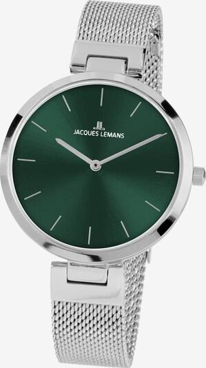Jacques Lemans Uhr in smaragd / silber, Produktansicht