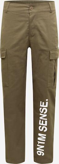 9N1M SENSE Klapptaskutega püksid 'Sense' khaki / valge, Tootevaade