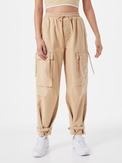 VIERVIER Klapptaskutega püksid 'Lea' beež, Modellivaade