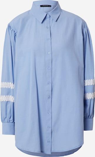 Trendyol Bluse in rauchblau / weiß, Produktansicht