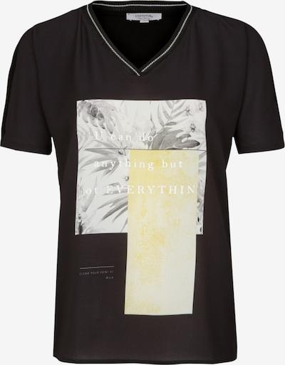 Ci comma casual identity Shirt in hellgelb / grau / schwarz, Produktansicht