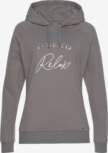 LASCANA Sweatshirt in grau / taupe / silber, Produktansicht