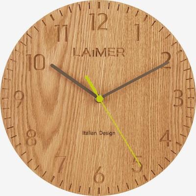 LAiMER Wanduhr Wanduhr aus Eichenholz, schleichende Sekunde in braun, Produktansicht