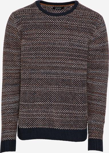 SHINE ORIGINAL Pullover in navy / braun / weiß, Produktansicht