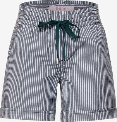 STREET ONE Pantalon en gris / vert foncé / blanc, Vue avec produit