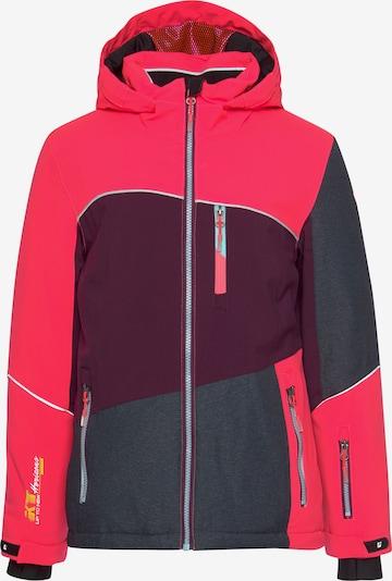 KILLTEC Skijacke in grau / lila / pink, Produktansicht