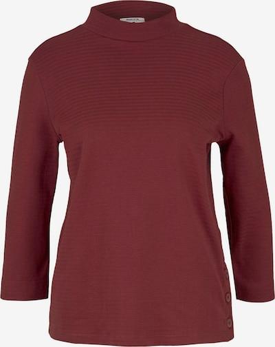 TOM TAILOR T-shirt en lie de vin / rouge foncé, Vue avec produit