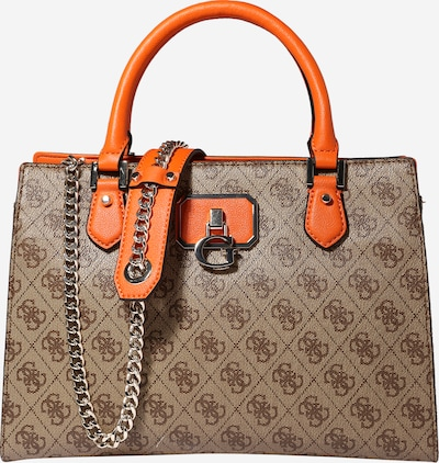GUESS Дамска чанта 'ALISA' в кафяво / оранжево: Изглед отпред