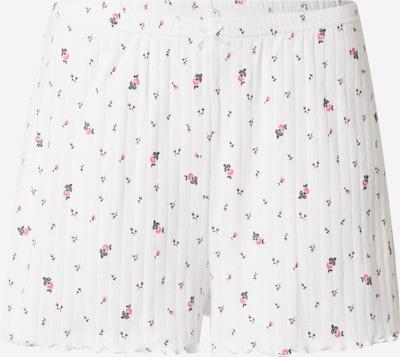 AERIE Pyjamahose in grün / pink / weiß, Produktansicht