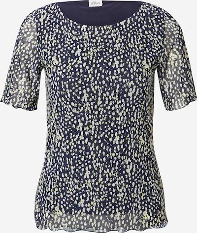 s.Oliver BLACK LABEL Shirt in de kleur Navy / Lichtgroen / Donkergroen / Wit, Productweergave