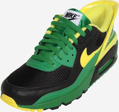 Nike Sportswear Sneakers laag 'Air Max 90' in de kleur Geel / Lichtgroen / Zwart, Productweergave