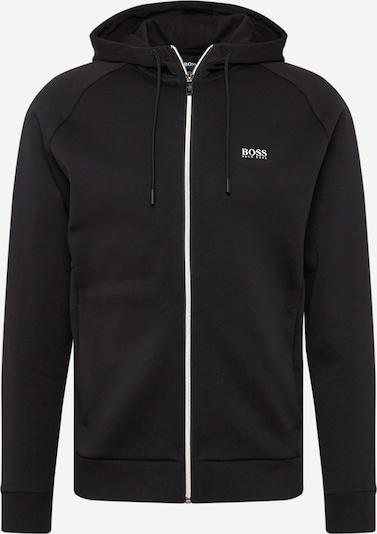 BOSS ATHLEISURE Sweatjacke 'Saggy 1' in schwarz / weiß, Produktansicht