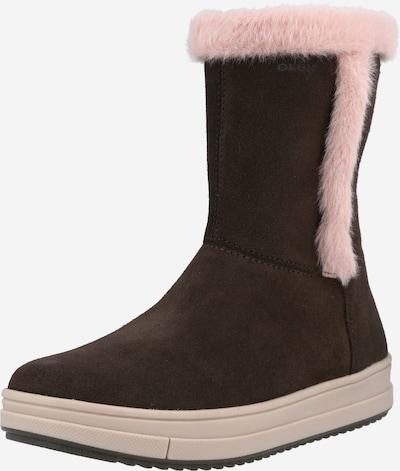 GEOX Boot 'Rebecca' in Dark brown / Pink, Item view