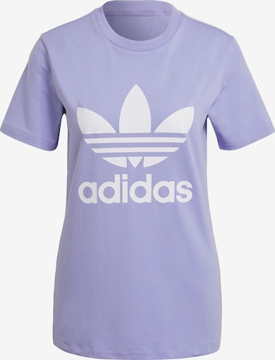 ADIDAS ORIGINALS Shirt in de kleur Lichtlila / Wit, Productweergave