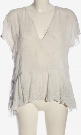 ZARA Kurzarm-Bluse in L in creme, Produktansicht