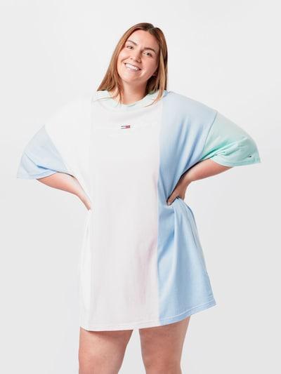 világoskék / világoszöld / rózsaszín / fehér Tommy Jeans Curve Nyári ruhák, Modell nézet