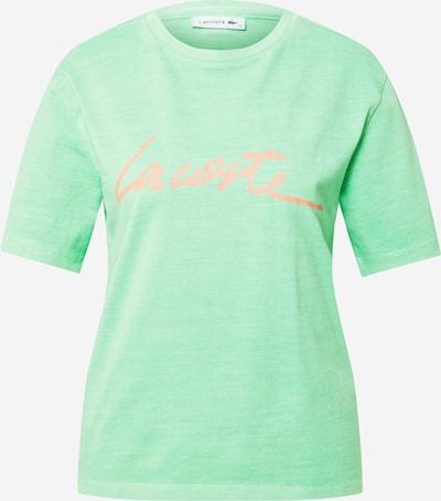 LACOSTE T-shirt en menthe / rose, Vue avec produit