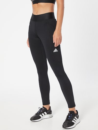 adidas Golf Workout Pants in Black / White, View model