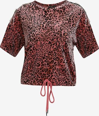 faina T-Shirt in hellbraun / rosé / schwarz, Produktansicht