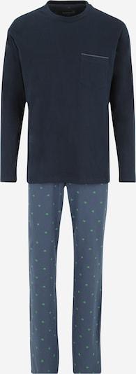 SCHIESSER Pyjama in nachtblau / hellgrün, Produktansicht