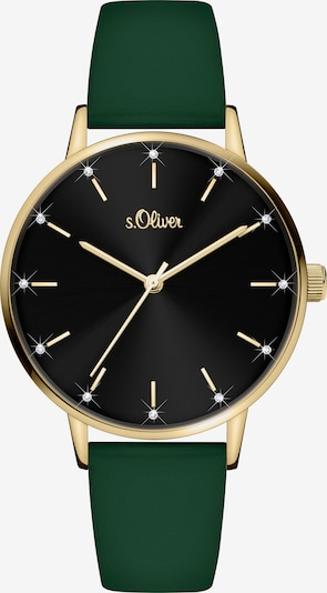 s.Oliver Analog Watch 'SO-4160-LQ' in Gold / Green / Black, Item view