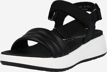 Sandale cu baretă 'Sporty 6A' de la Marc O'Polo pe negru