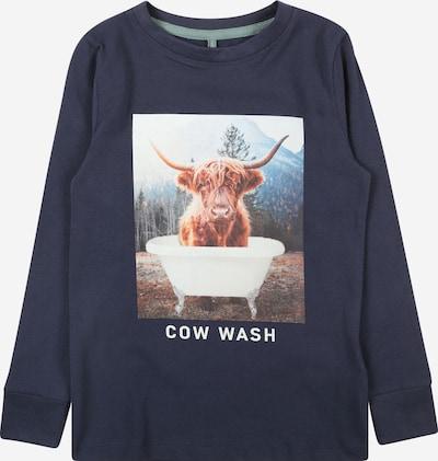 The New T-shirt i marinblå / brun / grön / vit, Produktvy