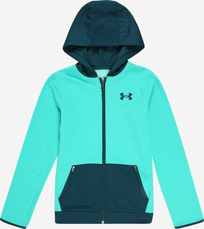 UNDER ARMOUR Sport-Sweatjacke in türkis / petrol, Produktansicht