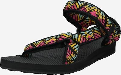 TEVA Туристически сандали в тюркоазен / жълто / розово / черно, Преглед на продукта