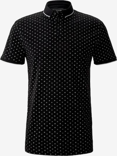 TOM TAILOR DENIM Poloshirt in schwarz / weiß, Produktansicht