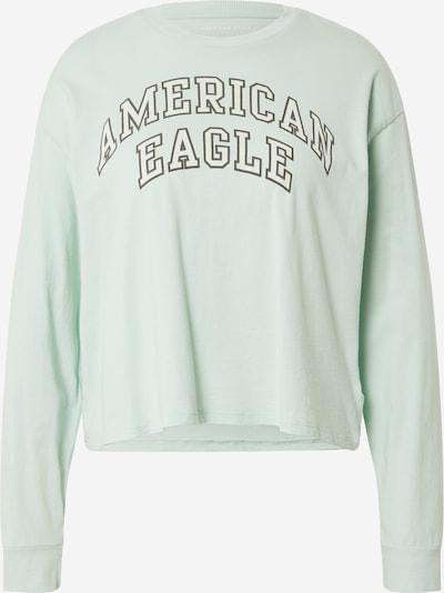 American Eagle Тениска в кестеняво кафяво / пастелно зелено, Преглед на продукта