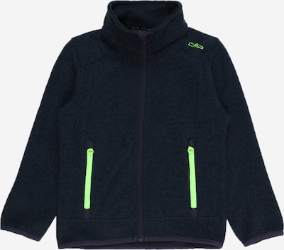 CMP Funkčná flisová bunda - tmavomodrá / neónovo zelená / čierna, Produkt