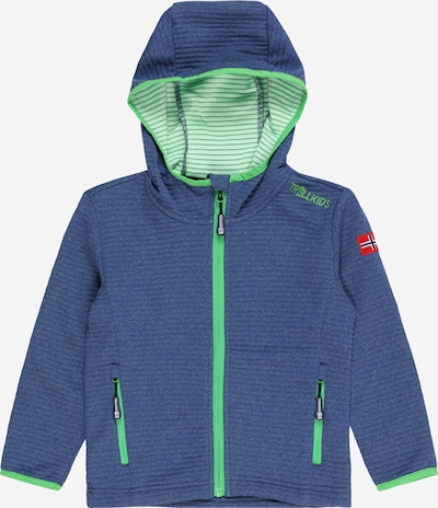 TROLLKIDS Veste outdoor en bleu marine / vert clair, Vue avec produit