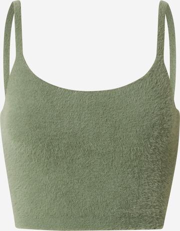 ABOUT YOU x Laura Giurcanu Strikketopp 'Mona' i grønn