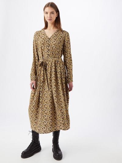 MOSS COPENHAGEN Kleid in honig / pastellgelb / hellgrau / schwarz, Modelansicht
