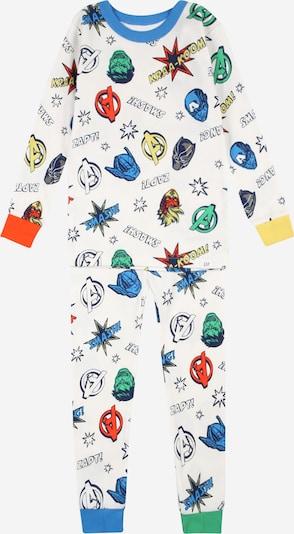 GAP Schlafanzug in mischfarben / offwhite, Produktansicht