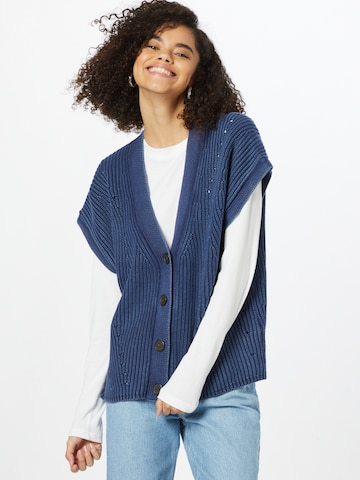 s.Oliver Knit Cardigan in Blue