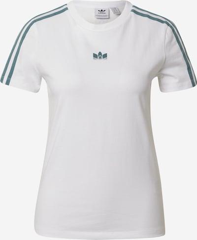 ADIDAS ORIGINALS Shirt 'adicolor 3D Trefoil' in petrol / weiß, Produktansicht