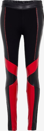 CIPO & BAXX Leggings 'Diva' in rot / schwarz, Produktansicht