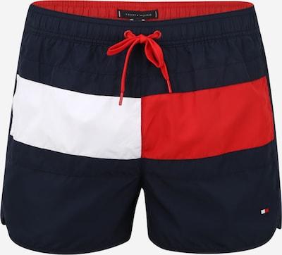 Tommy Hilfiger Underwear Shorts de bain 'RUNNER' en bleu nuit / rouge / blanc, Vue avec produit