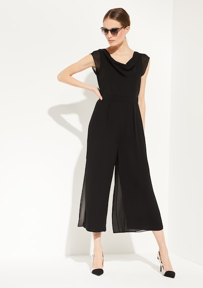 COMMA Jumpsuit in schwarz, Modelansicht