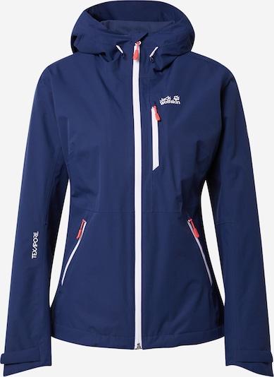 JACK WOLFSKIN Chaqueta de montaña 'EAGLE PEAK JACKET W' en azul noche / rojo oscuro / blanco, Vista del producto