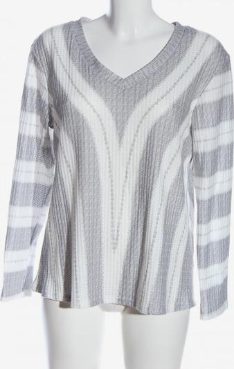 Misslook Schlupf-Bluse in L in hellgrau / weiß, Produktansicht