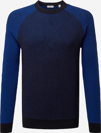 Megztinis iš EDC BY ESPRIT , spalva - mėlyna / tamsiai mėlyna / šokolado spalva: Vaizdas iš priekio