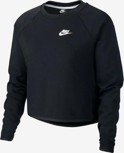 NIKE Sweatshirt ' Sportswear Tech Crew Fleece ' in schwarz / weiß, Produktansicht