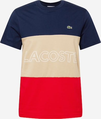 LACOSTE Μπλουζάκι σε κρεμ / μπλε νύχτας / κόκκινο, Άποψη προϊόντος