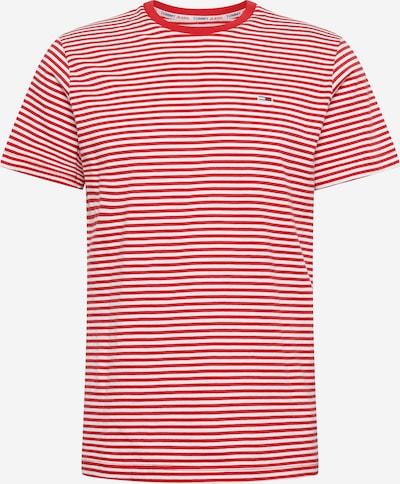 Tommy Jeans Majica   rdeča / bela barva: Frontalni pogled
