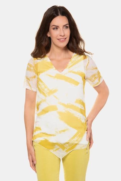 Gina Laura Gina Laura Damen Bluse in gelb / weiß, Modelansicht