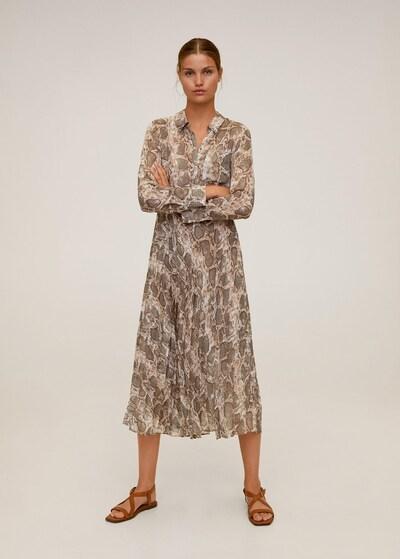 MANGO Kleid 'serpi' in braun, Modelansicht